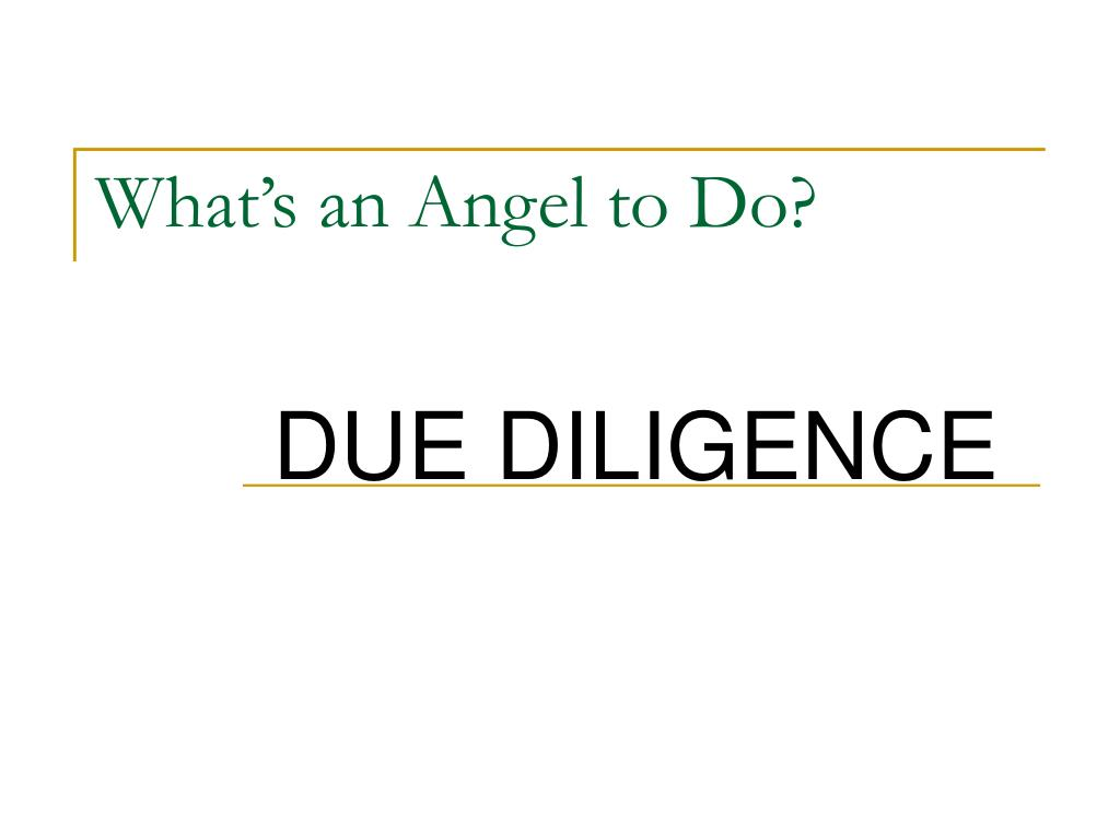 What's an Angel to Do?
