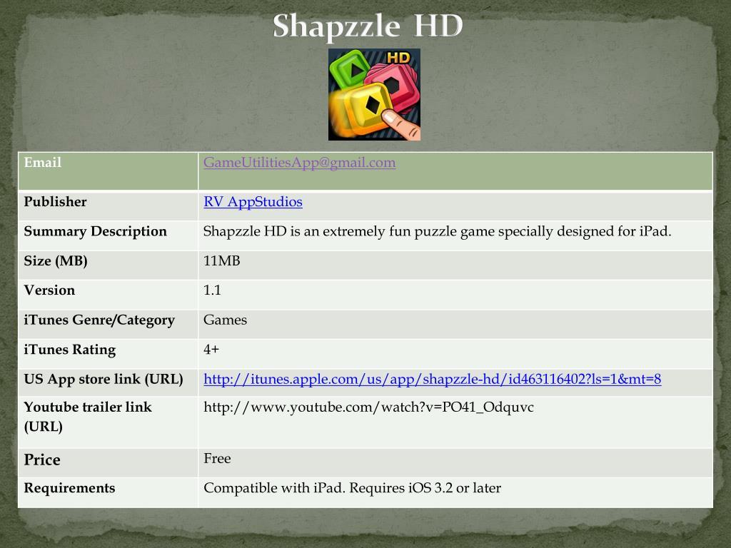 shapzzle hd l.