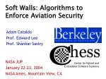 soft walls algorithms to enforce aviation security