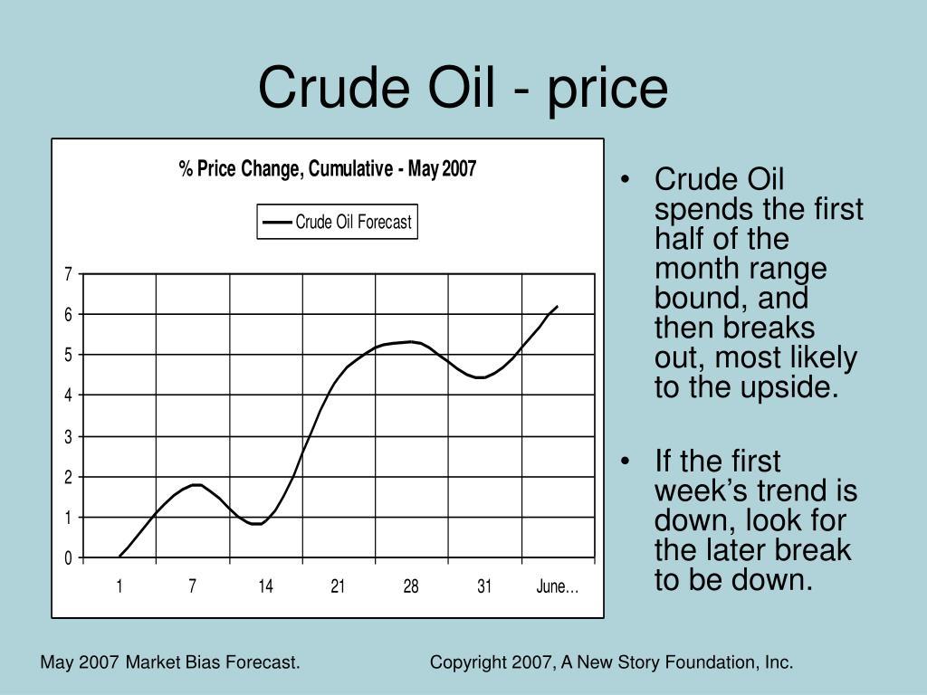 Crude Oil - price