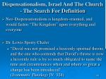 dispensationalism israel and the church the search for definition160