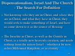 dispensationalism israel and the church the search for definition164