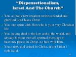 dispensationalism israel and the church156