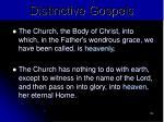 distinctive gospels103