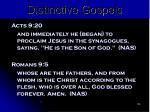 distinctive gospels105