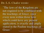 dr l s chafer wrote