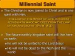 millennial saint