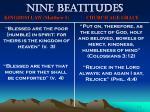 nine beatitudes