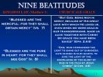nine beatitudes73