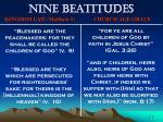 nine beatitudes74