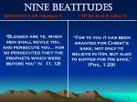 nine beatitudes75