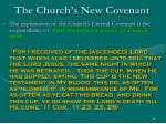 the church s new covenant