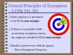 general principles of exemption 5 cfr 551 202