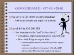 opm guidance 27 05 28 02