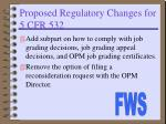 proposed regulatory changes for 5 cfr 532