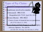 types of pay claims unpaid compensation