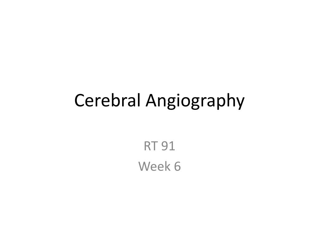 cerebral angiography l.