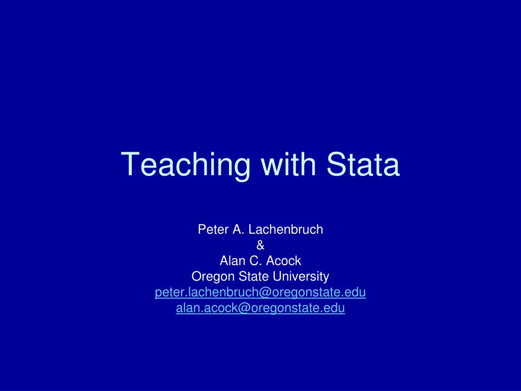 teaching with stata l.