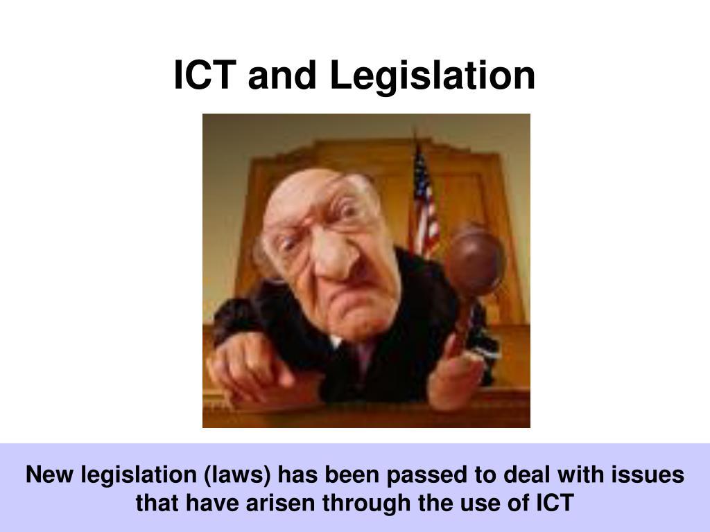 ict and legislation l.