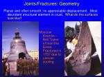 joints fractures geometry