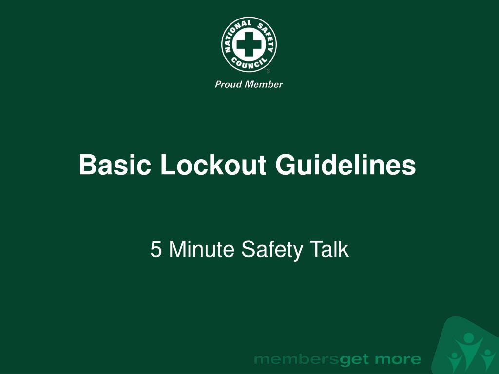 Basic Lockout Guidelines