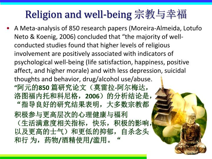 Religion and well being