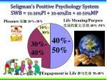 seligman s positive psychology system swb 10 30 pl 30 40 en 40 50 mp