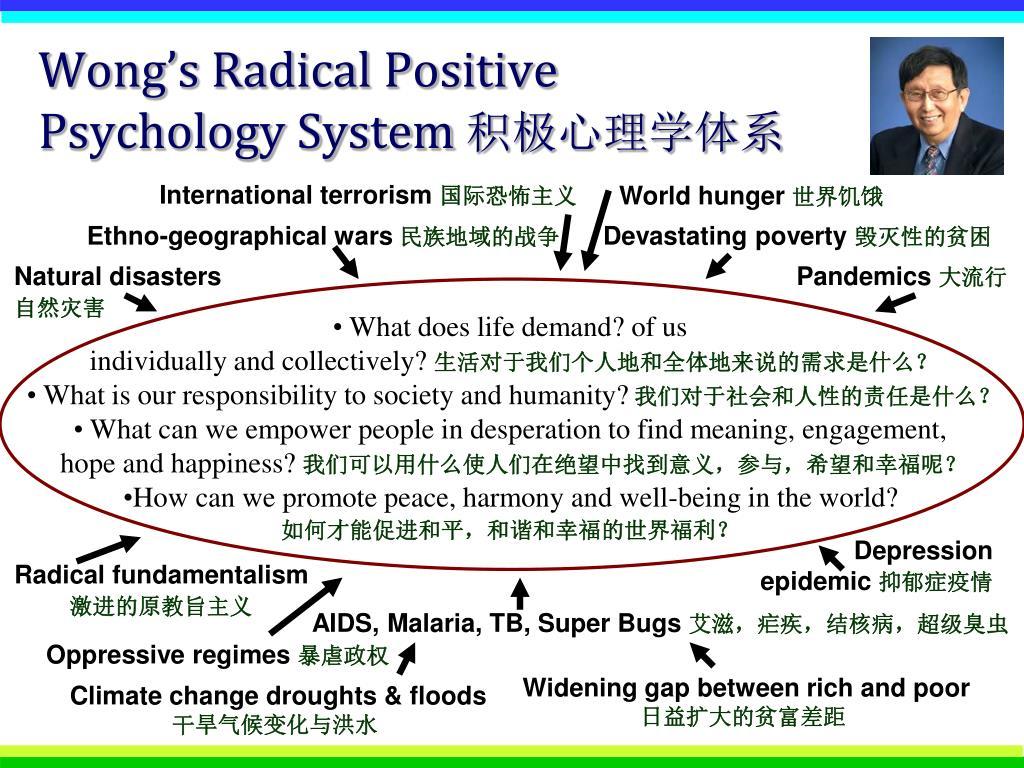 Wong's Radical Positive Psychology System