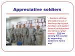 appreciative soldiers
