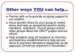 other ways you can help