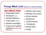 troop wish list items to collect donate12