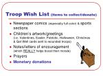 troop wish list items to collect donate13