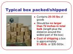 typical box packed shipped