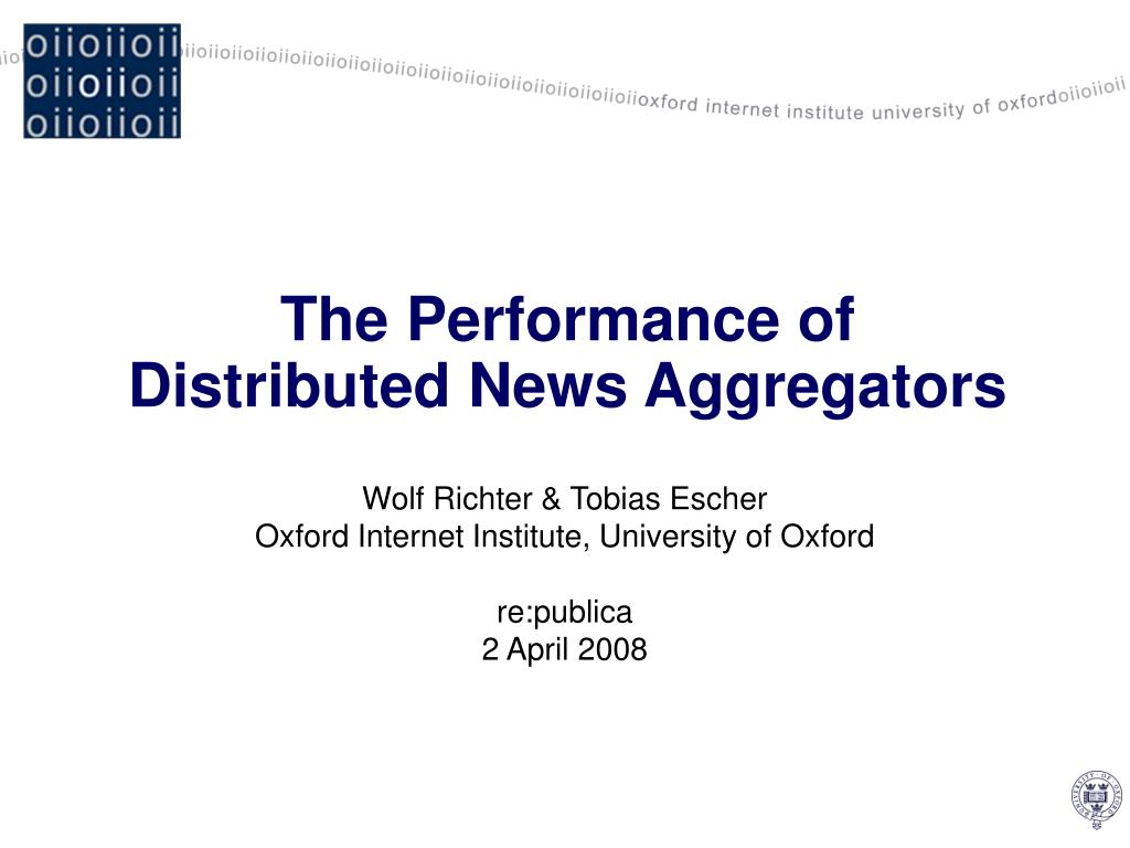 the performance of distributed news aggregators l.