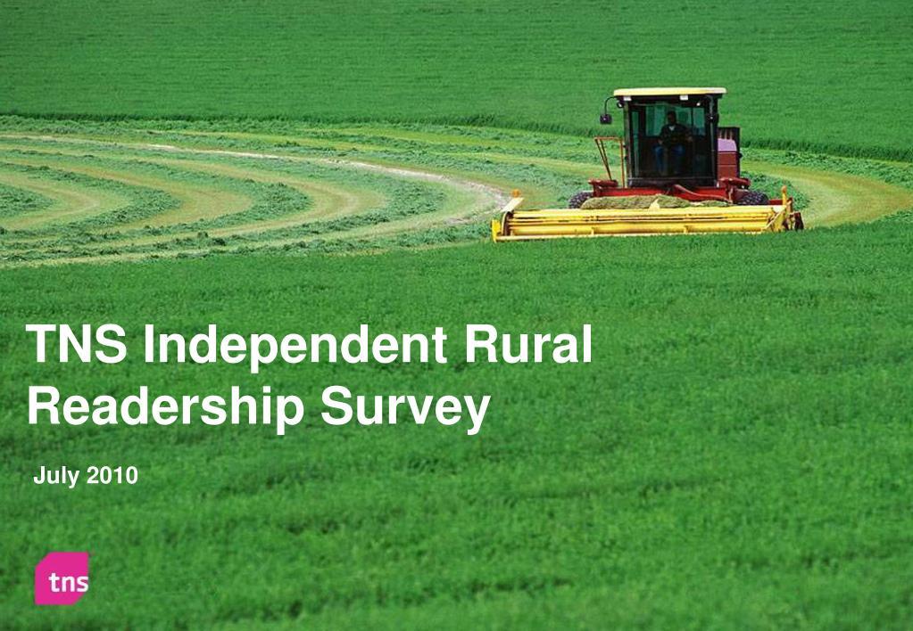 tns independent rural readership survey l.