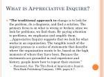 what is appreciative inquire