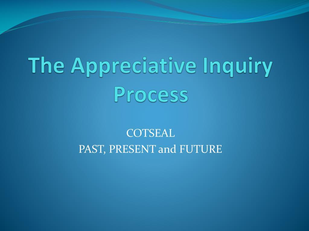 the appreciative inquiry process l.