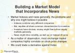 building a market model that incorporates news