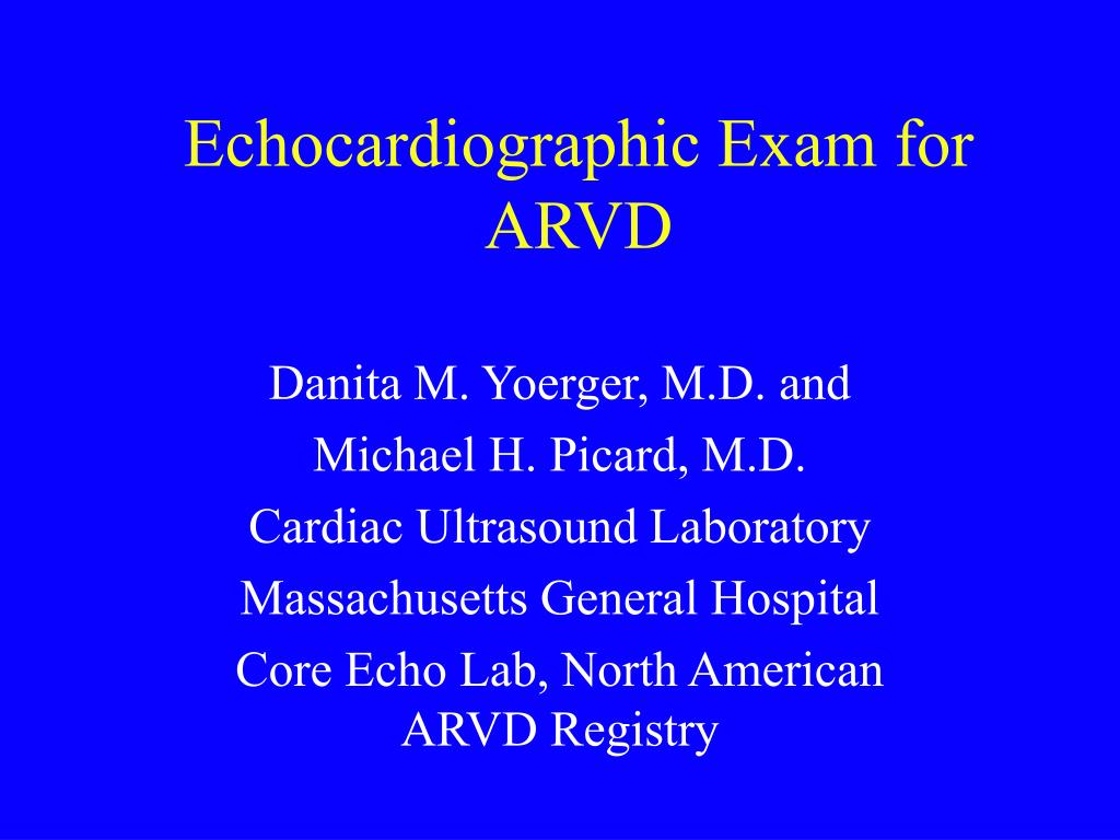 echocardiographic exam for arvd l.