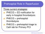prehospital role in reperfusion