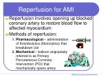 reperfusion for ami