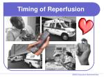 timing of reperfusion