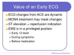 value of an early ecg
