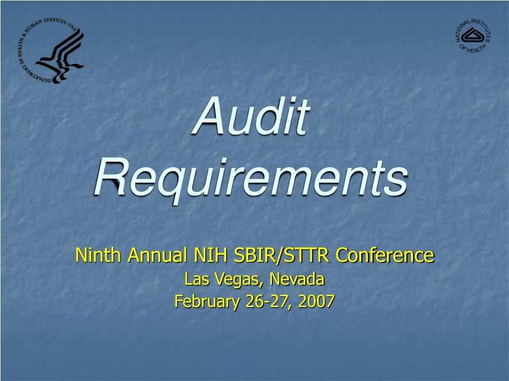 audit requirements l.