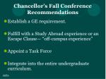 chancellor s fall conference recommendations