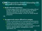 cise proposal for global citizenship ge