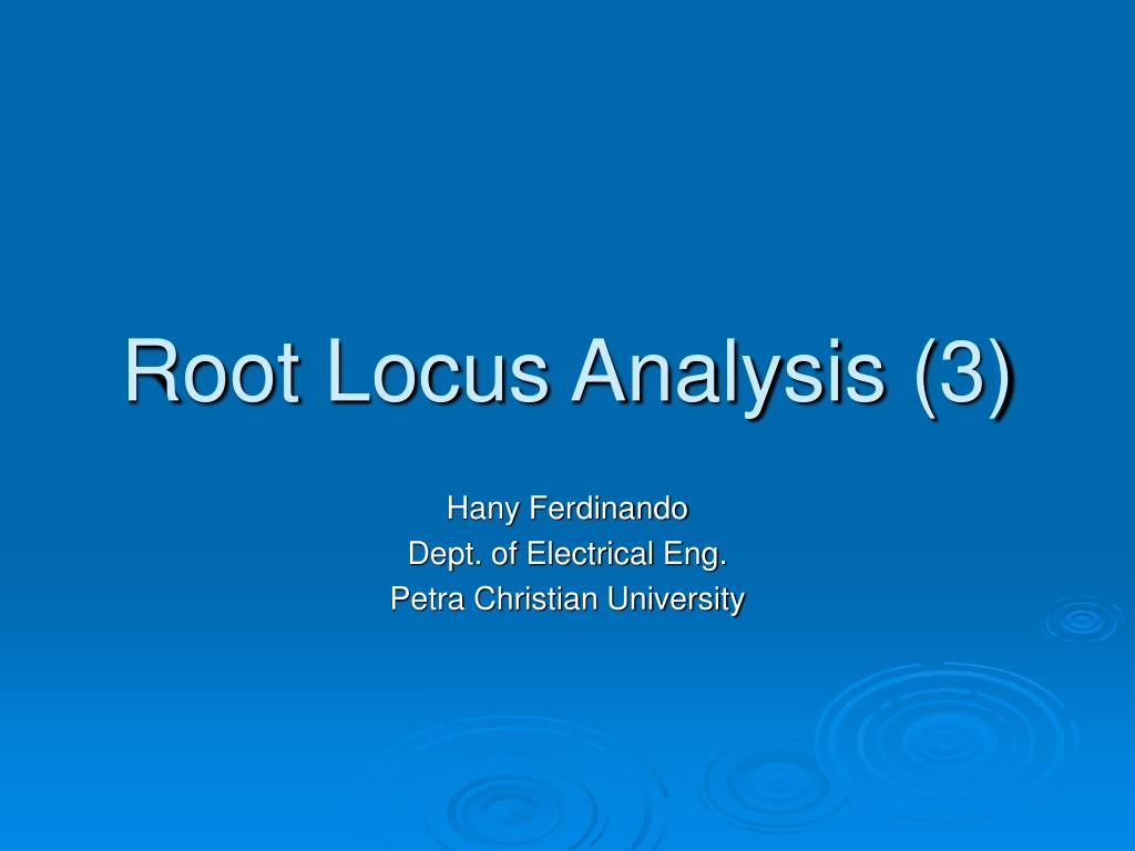 root locus analysis 3 l.
