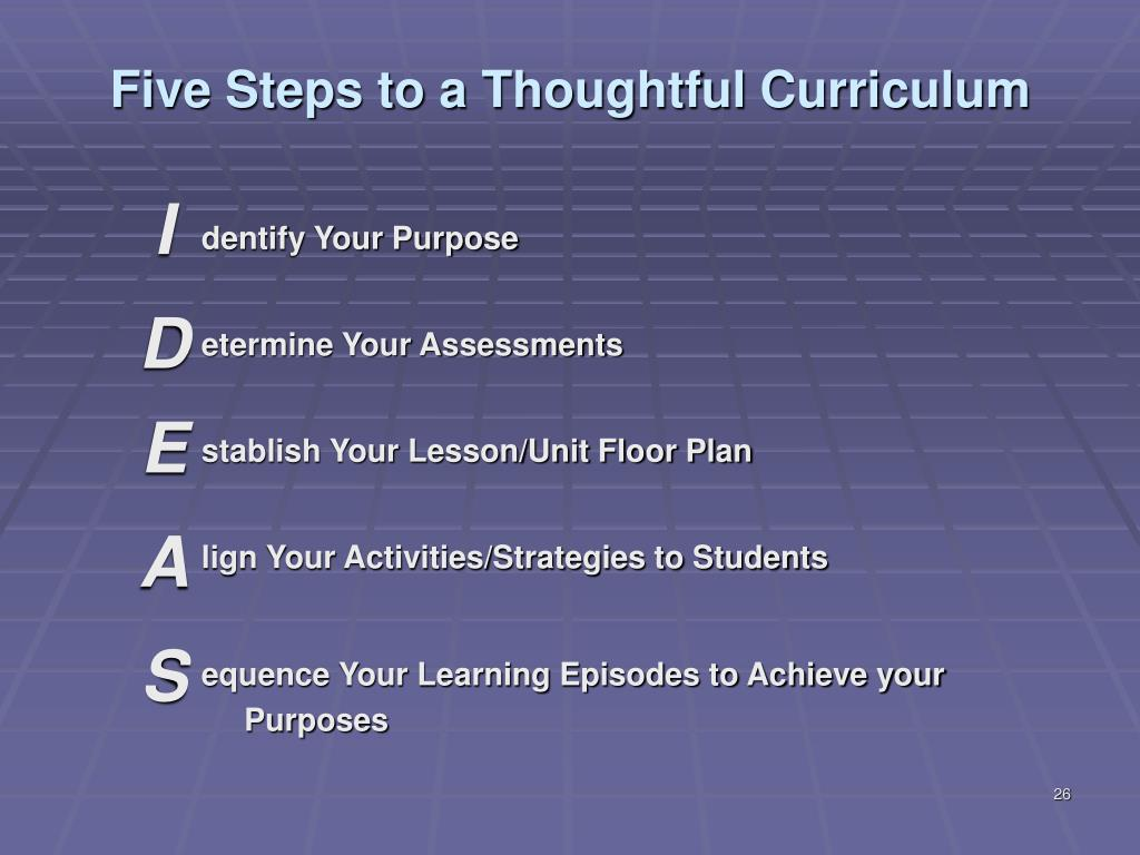 Five Steps to a Thoughtful Curriculum