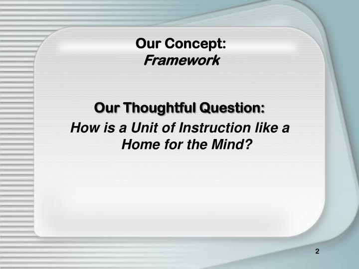 Our concept framework