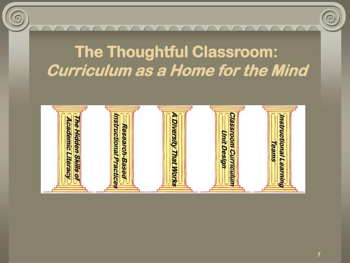 The thoughtful classroom curriculum as a home for the mind